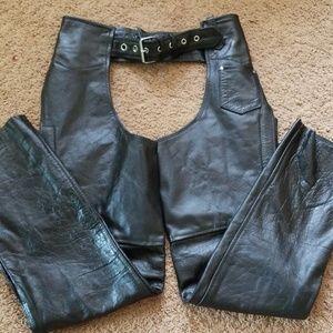 Hot Leathers sz M black unisex chaps